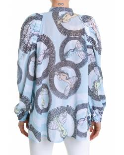 PRINTED GEORGETTE BLOUSE WITH PUFFED SLEEVES 11RPT621