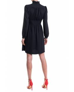 GEORGETTE DRESS WITH AN EMBROIDERED PATCH ON THE FRONT 11XPT930
