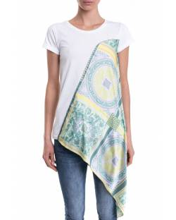 T-SHIRT WITH ASYMMETRICAL PATTERN PANEL 11CPT508