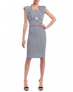 PRINTED DRESS WITH PADDED STRAPS 11XPT903