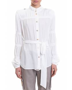 GEORGETTE SHIRT WITH CURLS ON THE SLEEVES 11XPT904
