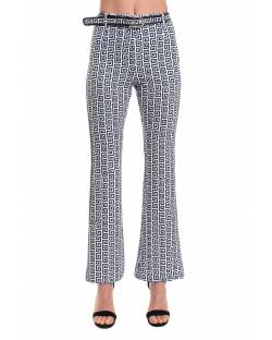 PRINTED TROUSERS WITH CONTRASTING SIDE BANDS 11XPT909