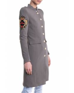 TRENCH COAT WITH AN EMBROIDERED PATCH ON THE SLEEVE 11XPT911