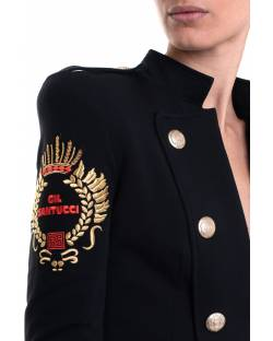 MILITARY STYLE JACKET WITH DECORATIVE PRESS BUTTONS 11XPT912