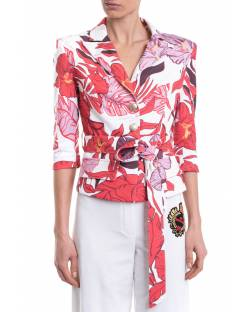 PRINTED JACKET WITH A BELT TO BE ANNODED 11XPT918