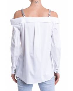 POPELINE SHIRT WITH CHAIN STRAPS 11XPT920