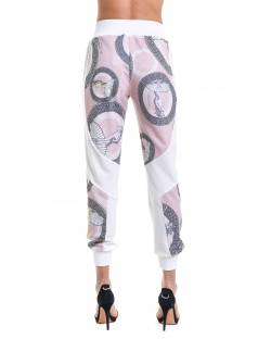 PATTERNED TROUSERS WITH ASYMMETRIC CUTS 11RPT605