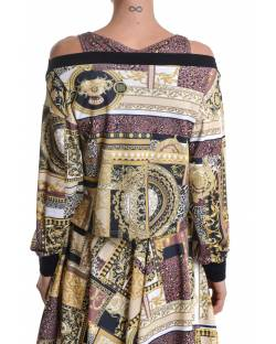 PATTERNED SWEATSHIRT WITH CONTRASTING INNER TANK TOP 11BPT728