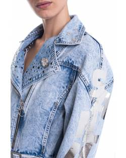 DENIM JACKET WITH APPLICATIONS 11CPT521