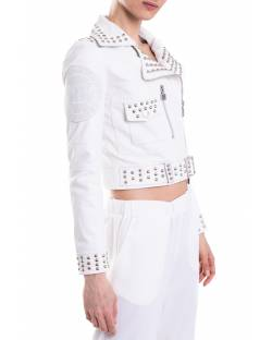 REAL LEATHER JACKET WITH GRIFFED STUDS 11GPP100