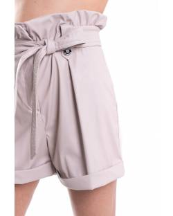 SHORTS ECO-LEATHER AND TECNICAL FABRIC WITH BELT 11XPT906