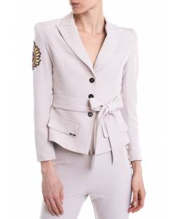 BELTED JACKET WITH PERSONALIZED DETAILS 11XPT915