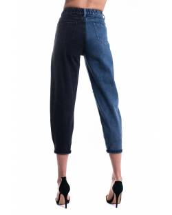 TWO-TONE JEANS WITH HANDMADE APPLICATIONS 11CPT540