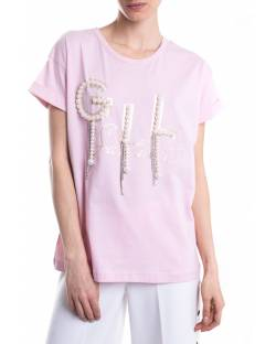 T-SHIRT WITH BEADS AND CRYSTALS EMBROIDERY 11CPT538