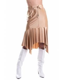 SKIRT WITH ASYMMETRIC RUFFLE 11XPT941