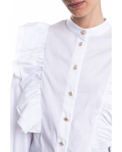 POPELINE SHIRT WITH ROUCHES ON THE SHOULDERS 11RPT627