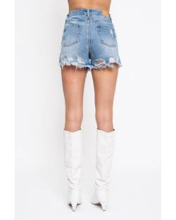 DENIM SHORTS WITH STAR PATCHES 11CPT570