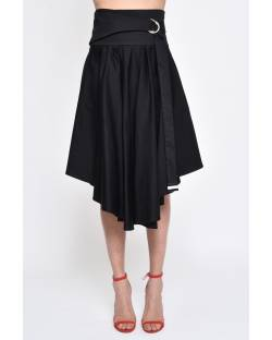 ASYMMETRICAL MIDI SKIRT 11RPT635