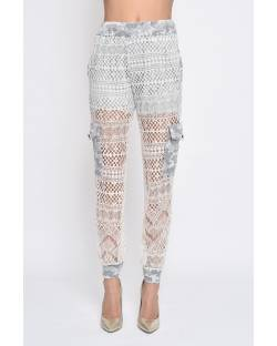 LACE GYMNASTIC TROUSERS 11RPT631