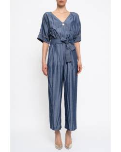 CHAMBRAY JUMPSUIT WITH BELT 11XPT949