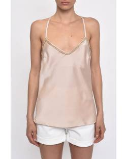 SATIN TOP WITH CHAINS 11CPT576