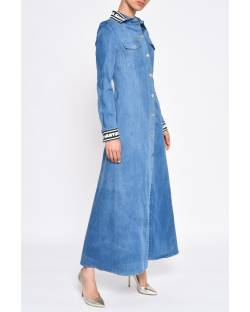 DENIM DRESS WITH LOGO TRIMMINGS 11CPT577