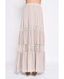 LONG SKIRT WITH LACE INSERTS 11XPT966