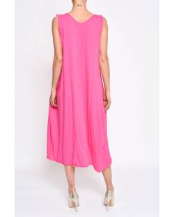 COTTON DRESS WITH DECORATED NECKLINE 11CPT585