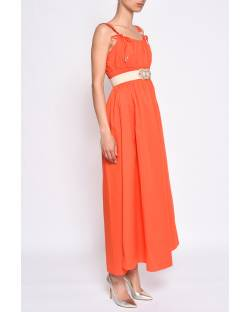 DRESS WITH DECORATED BELT 11CPT802