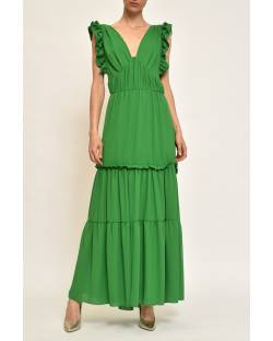 LONG DRESS WITH ROUCHES 11RPT647