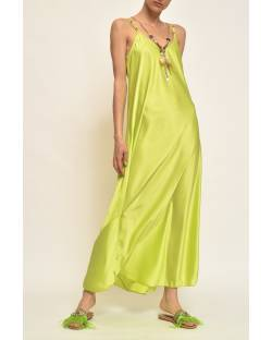 LONG DRESS WITH DECORATIONS 11SPT462