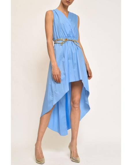 DRESS WITH DECORATED BELT 11CPT803