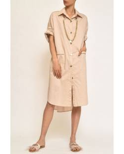 POPLIN DRESS WITH NECKLACE 11CPT550