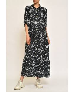 LONG DRESS WITH POLKA DOTS 11CPT557
