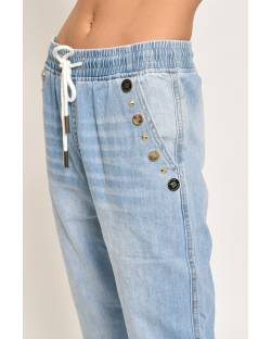 JEANS WITH LOGO BUTTONS 11CPT824