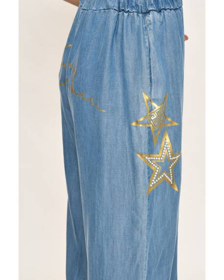 LARGE DENIM-EFFECT TROUSERS 11CPT811