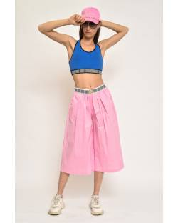 CROPPED TROUSERS WITH LOGO DETAILS 11CPT822