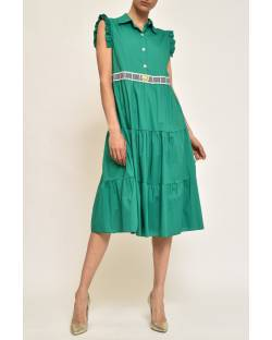 DRESS WITH CUSTOMIZED WAIST 11CPT828