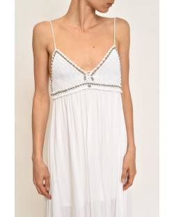 DRESS IN VISCOSE WITH STUDS 11XPT975