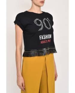 CROP T-SHIRT WITH PRINT 12CPT510