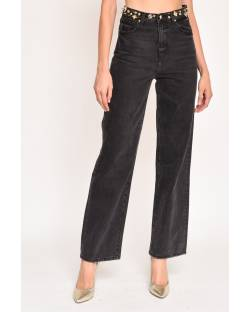 STRAIGHT CUT JEANS WITH STUDS 12CPT501
