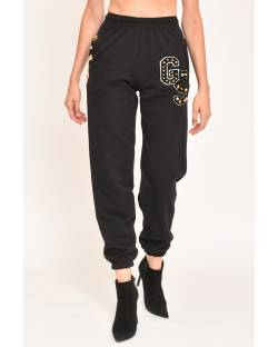 GYMNASTIC TROUSERS WITH LOGOED DETAILS 12CPT503