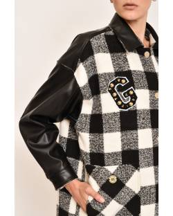 COAT WITH CHECK DESIGN 12CPT536