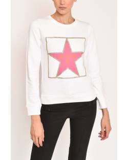 SWEATSHIRT WITH FRONT PRINT STAR 12CPT541