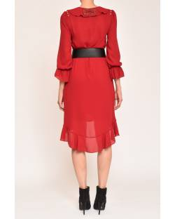 GEORGETTE DRESS WITH IMPORTANT BELT 12XPT900