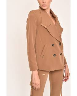 TRENDY DOUBLE-BREASTED JACKET 12XPT907
