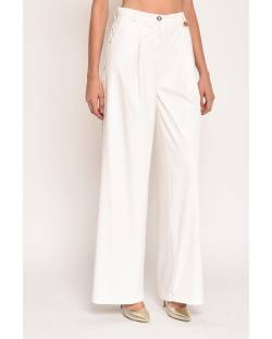PALACE TROUSERS IN ECO-LEATHER AND FABRIC 12XPT939