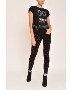 SKINNY JEANS WITH LOGOED DETAILS 12CPT538