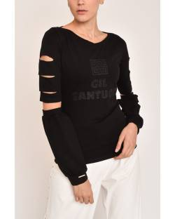 COTTON SWEATER WITH SLEEVES 12CPT543