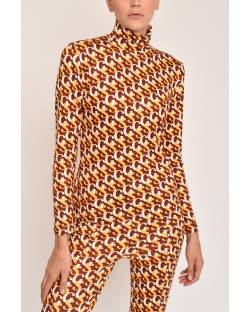 LONG-SLEEVED TURTLENECK WITH GS PRINT 12CPT548